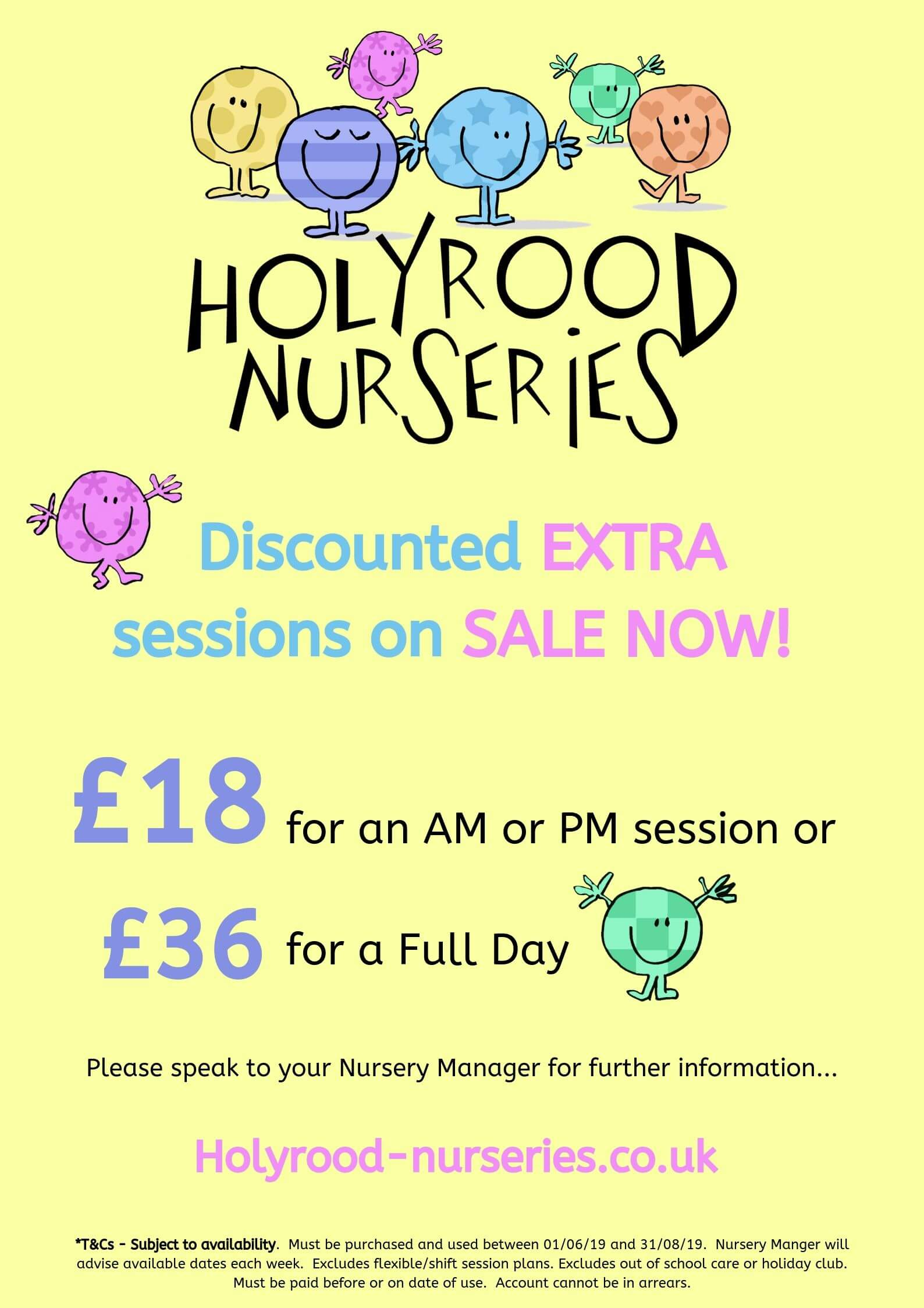 discounted rate offer at the nursery